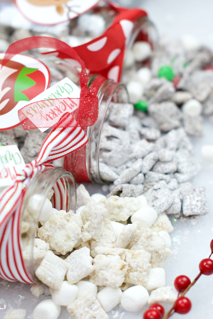 christmas muddy buddies recipe - Christmas Puppy Chow