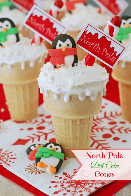 north-pole-dirt-cake-cones