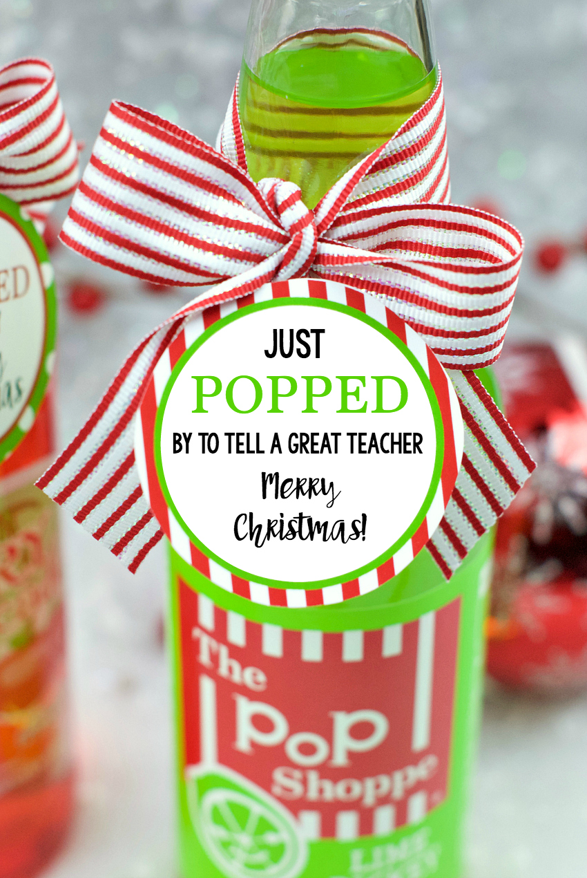 Popped Teacher Christmas Gift