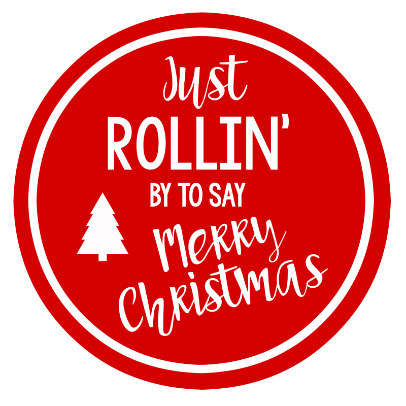 Rolling Christmas Tag