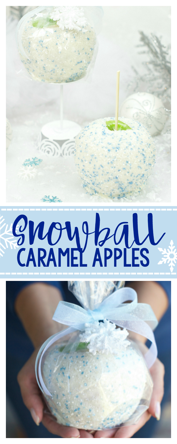 Snowball White Chocolate Caramel Apples