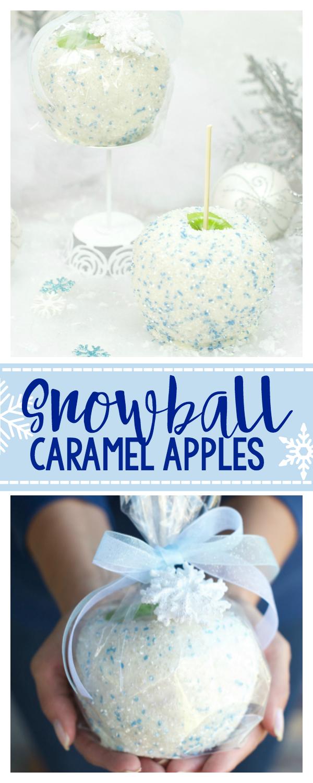 Snowball Caramel Apples