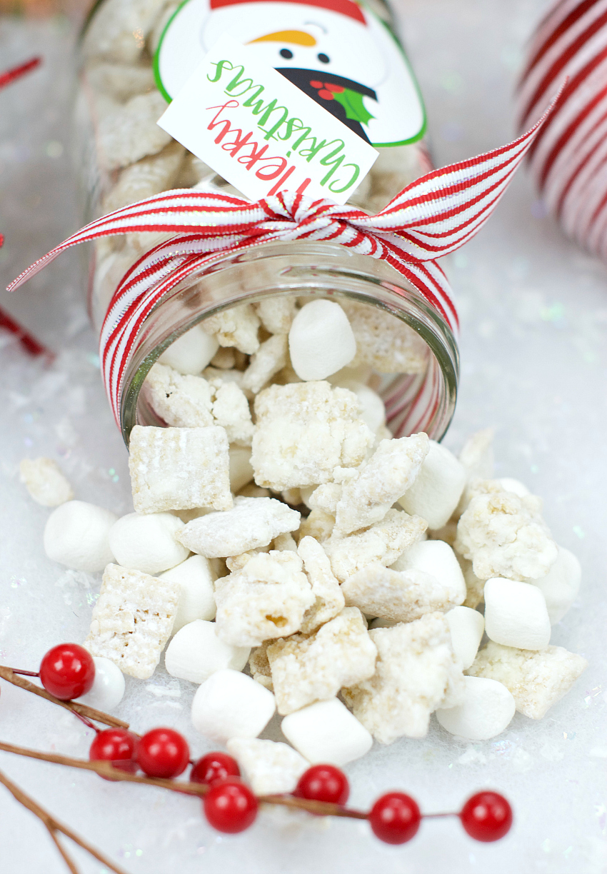 snowman christmas muddy buddies - Christmas Puppy Chow