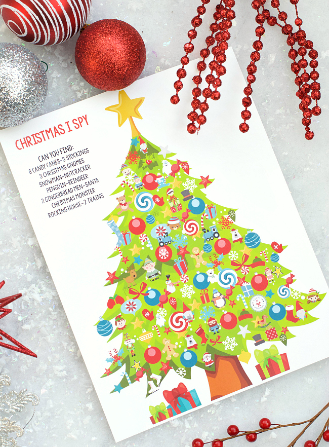 Christmas I Spy Game for Kids