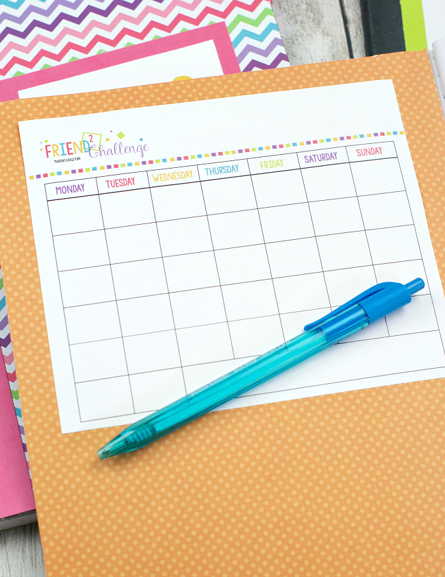 Printable Goal Calendar