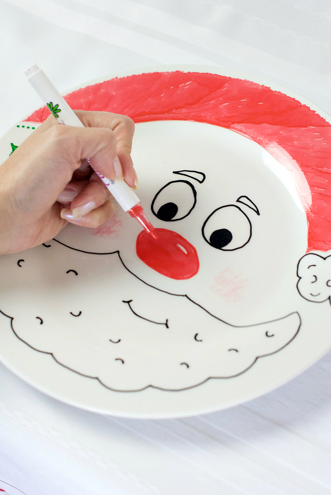 Make your own Santa Plate
