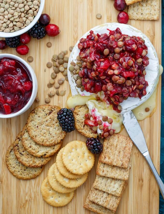 Cranberry-Lentil-Brie-Bake-lentils