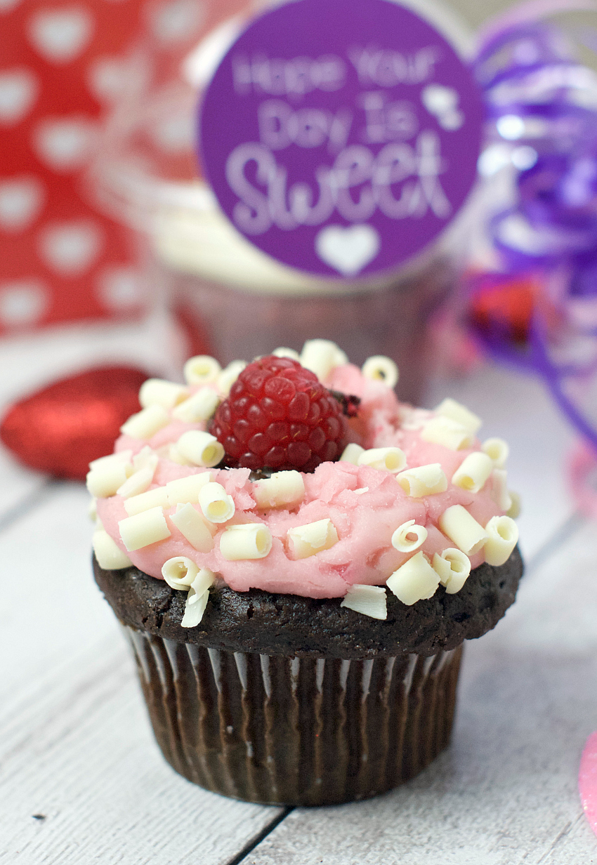 Cupcake Gift Idea for Valentine's Day