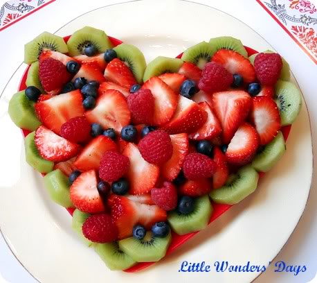 Heart Shaped Fruit Salad