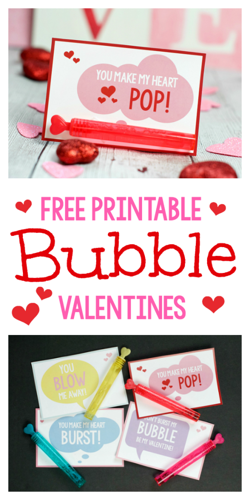 Easy School Valentine Ideas: Bubble Cards with You Make My Heart POP! Every kiddo loves bubbles, this Valentine's Day card will be a huge hit. #valentines #funvalentines #valentinesday #valentinesforkids #funvalentineidea