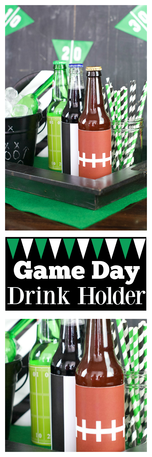 Game Day Drink Holder! Be ready for football season with this easy drink station