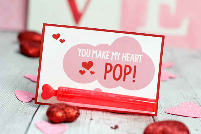 Bubbles School Valentine Ideas You Make My Heart Pop Fun Squared