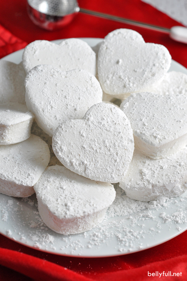 Homemade Heart Marshmallows