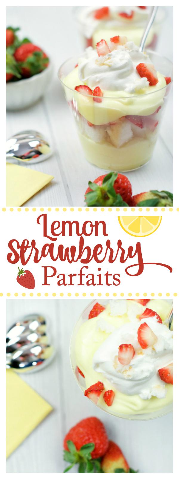 Strawberry Lemon Parfait Cups