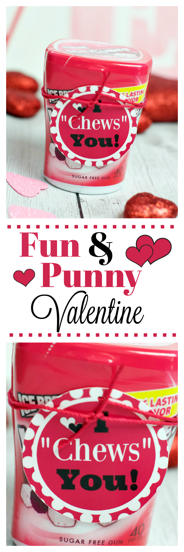 Fun and Punny Valentine. Such a fun way to say Happy Valentine's Day!