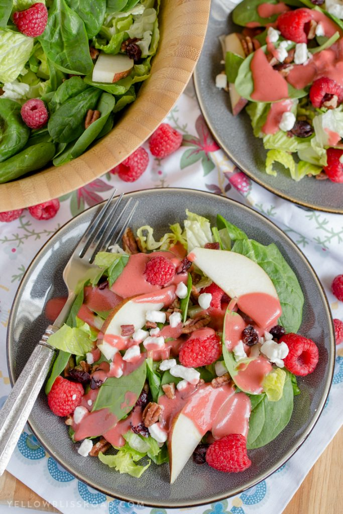 Raspberry-Pear-Salad-with-Homemade-Raspberry-Viniagrette-6