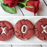 Red Velvet Valentine's Cookies