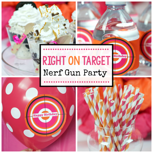 Right on Target-Nerf Gun Party – Fun-Squared