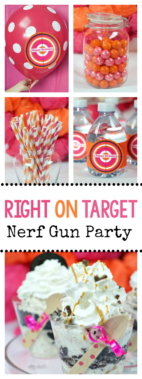 Right on Target Nerf Gun Party Idea-Great for Teens and Tweens!