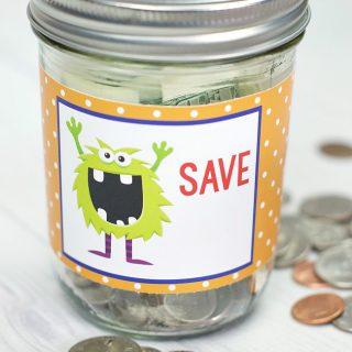 Make Your Own Kids Piggy Bank & Fun Ways to Help Kids Save Money