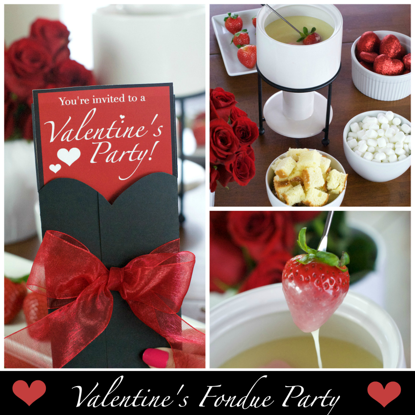 Valentine's Chocolate Fondue Party