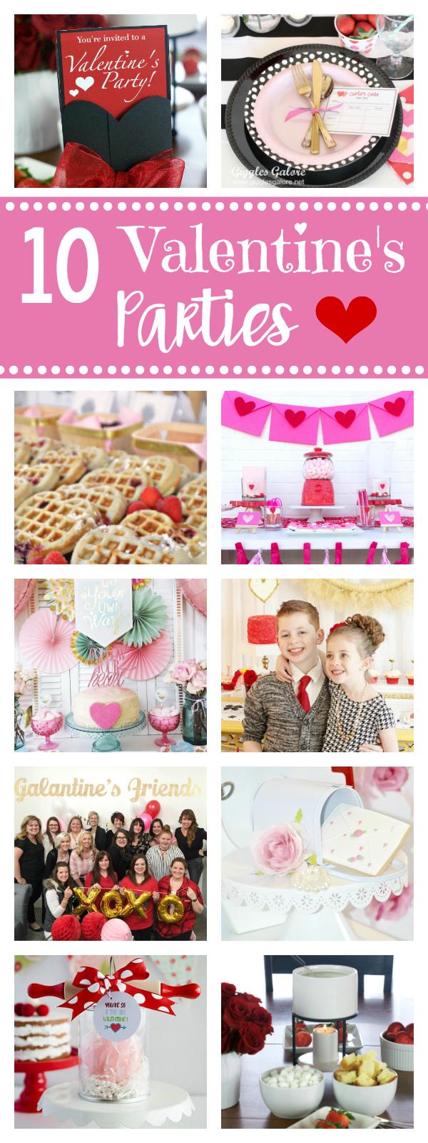 10 Fun Valentine's Parties