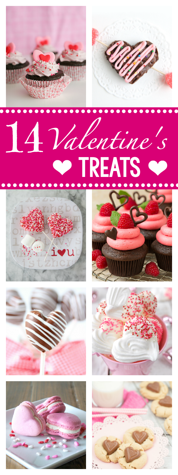 14 Fun Valentine Treat Ideas to Make this Valentine's Day-Perfect with parties, for kids or as a romantic dessert. So many treats, so little time! #valentinesday #valentinestreats #funforvalentinesday #valentinesday