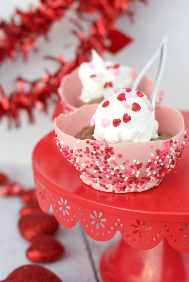 Valentine's Dessert Bowl-Made from Chocolate!