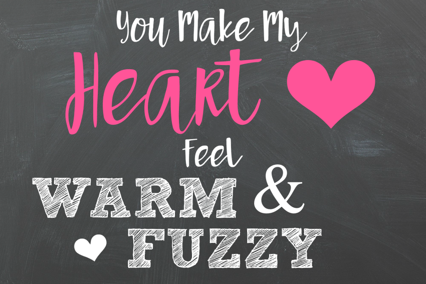 Warm and Fuzzy Tag for Valentines Gifts for Kids