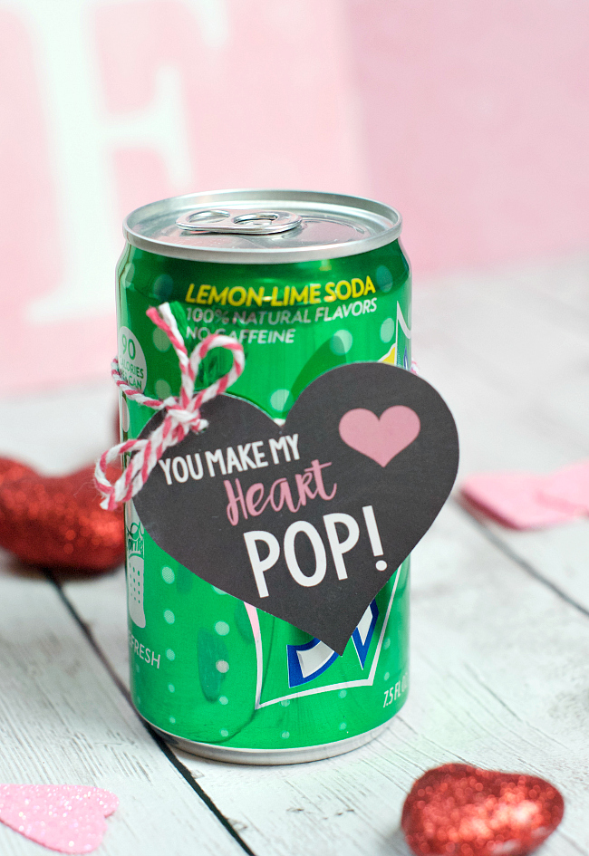 You Make My Heart Pop Valentine Idea