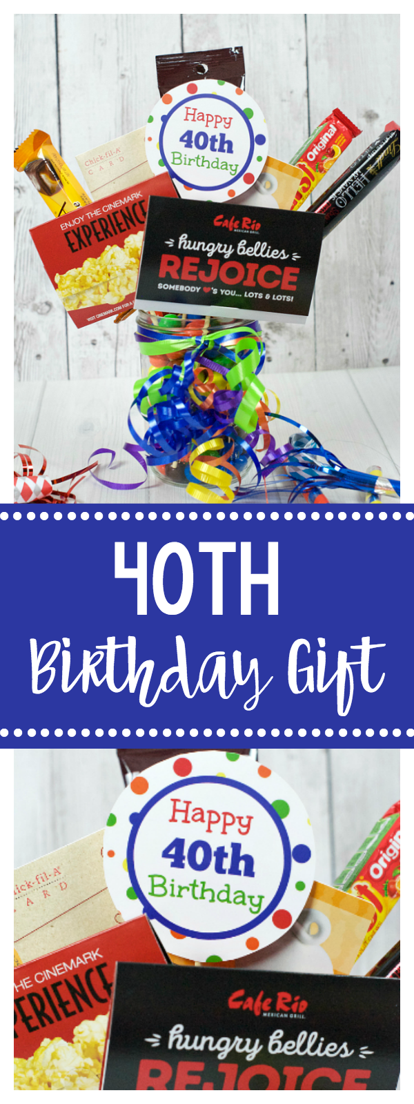 40th Birthday Gift Idea-Fun Gift Card Bouquet