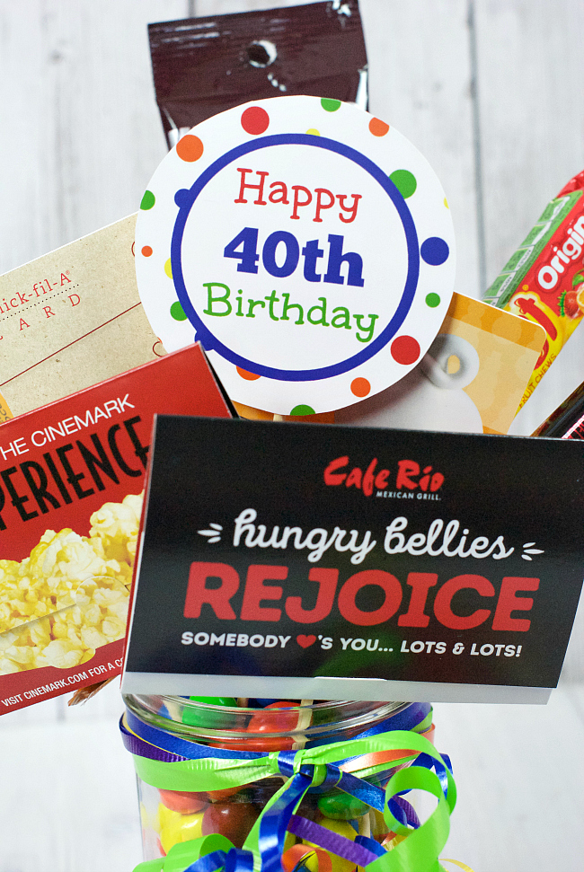 40th Birthday Gifts Gift Card Bouquet Fun Squared