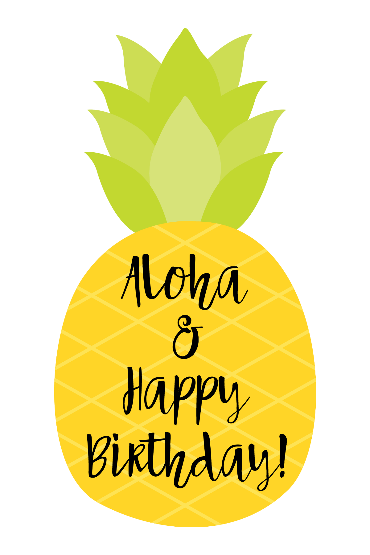 Cute Pineapple Themed Birthday Gift Idea