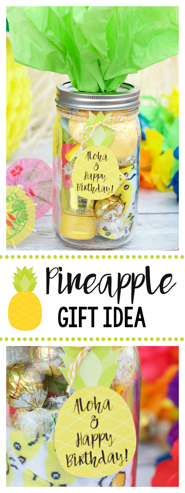 Cute Pineapple Themed Gift Idea-Great for Birthdays or as a Thank You Gift Idea