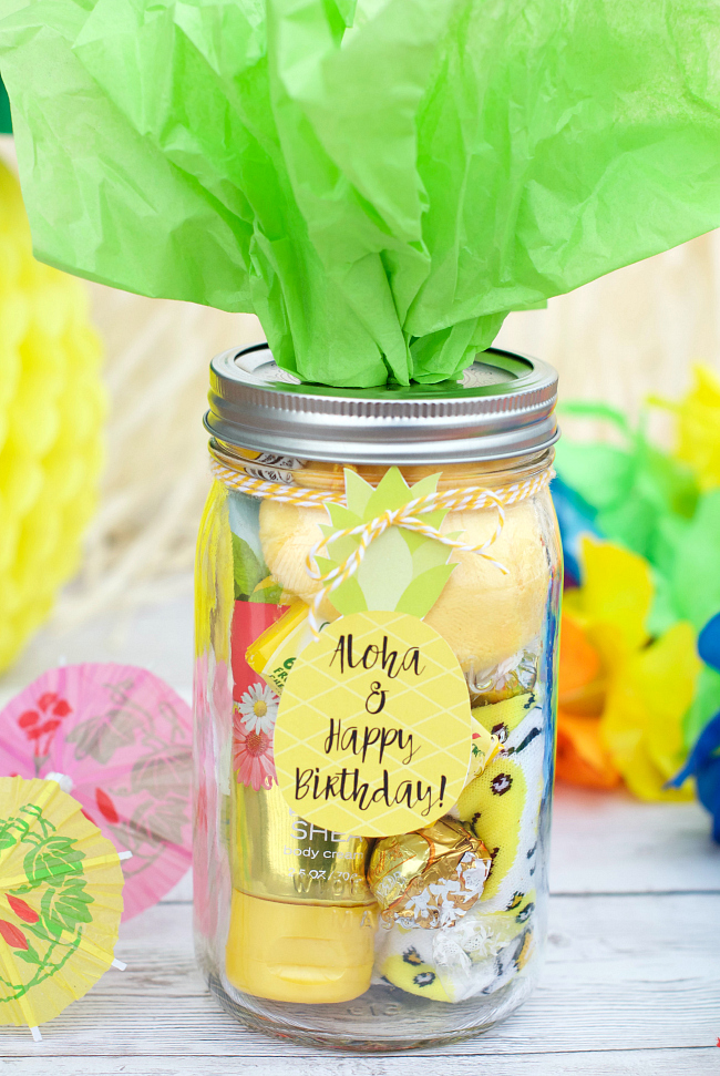 Hawaiian Themed Birthday Gift Idea