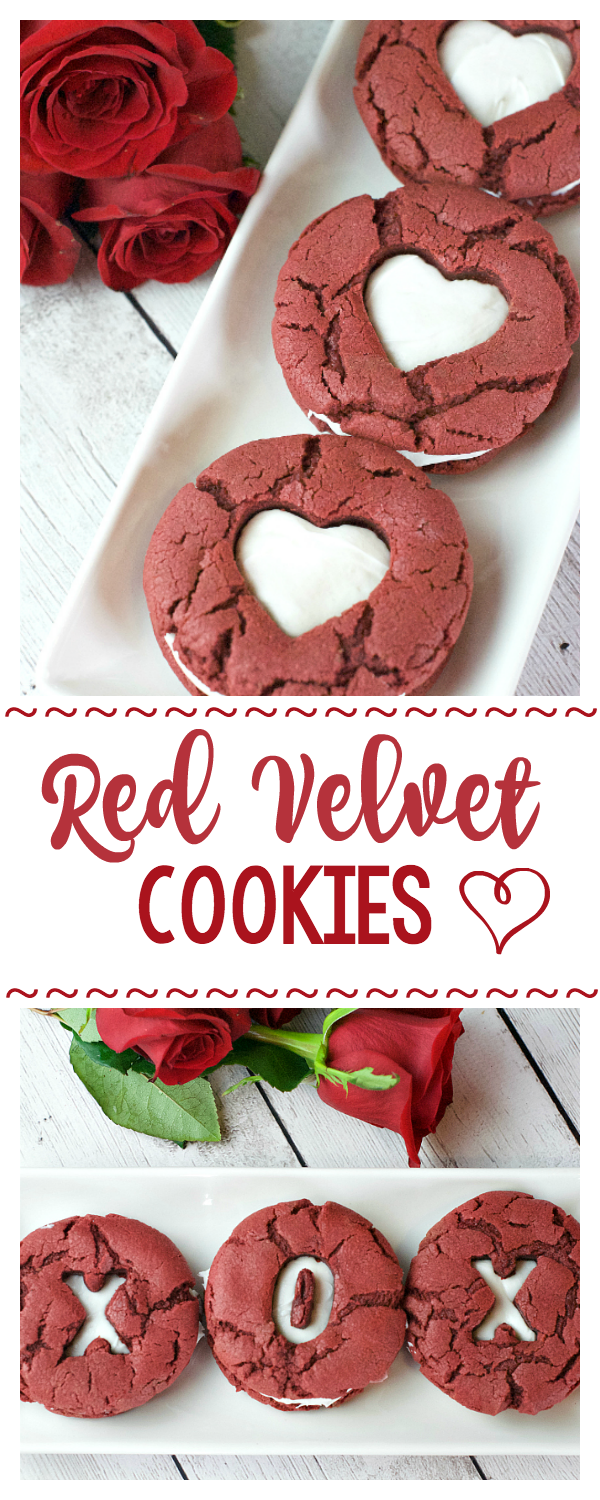 Red Velvet Whoopie Pies for Valentine's Day