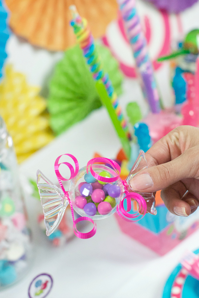 Cute Candy Birthday Party Favors