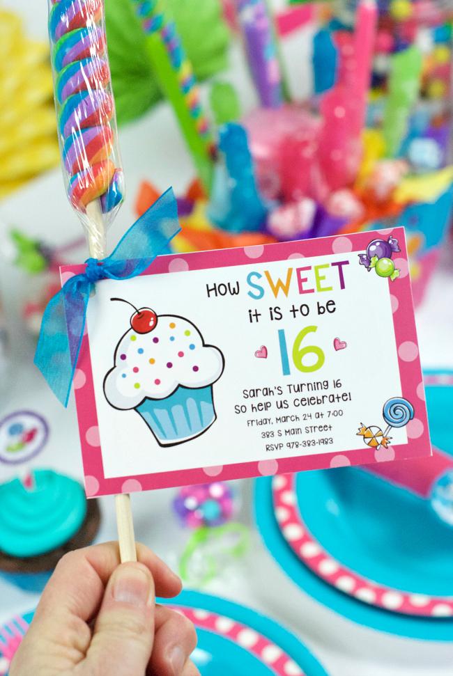Printable Sweet 16 Birthday Party Invitations