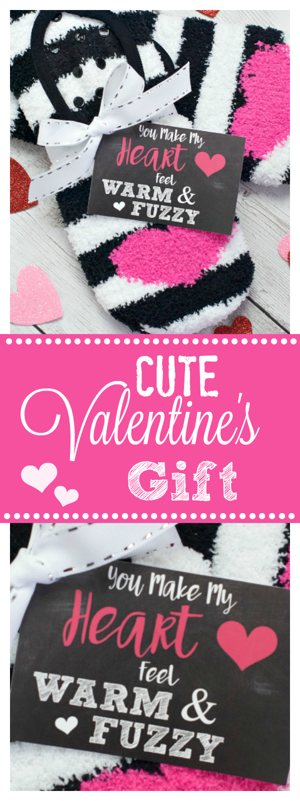 Fun Valentine Gifts for Kids or Friends. Give some cozy socks this Valentine's Day! We have this cute tag all ready for you to print. It's a fun and simple Valentine's Day gift. #valentinegift #valentinegiftidea #valentinesdaygift #funvalentinegift