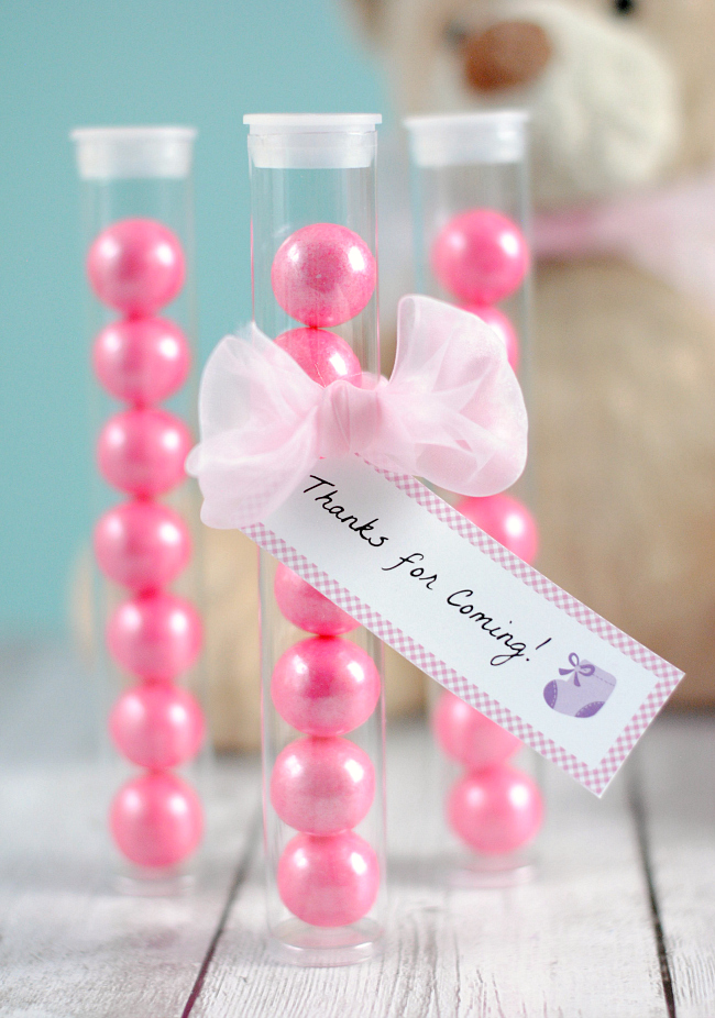 Just Had A Baby Gift Ideas : Gum ball favor ideas fun squared