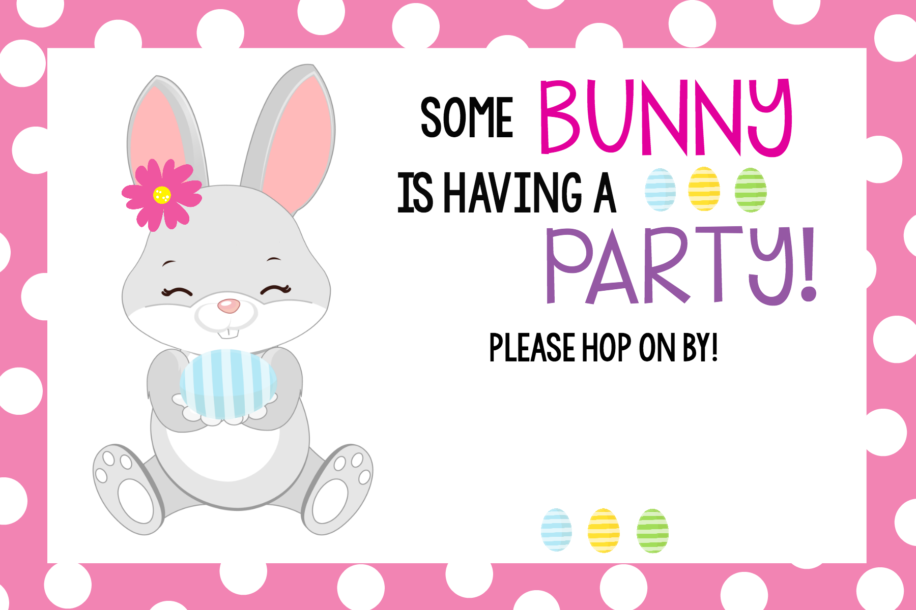 "some bunny loves you"" easter party idea  funsquared, party invitations"