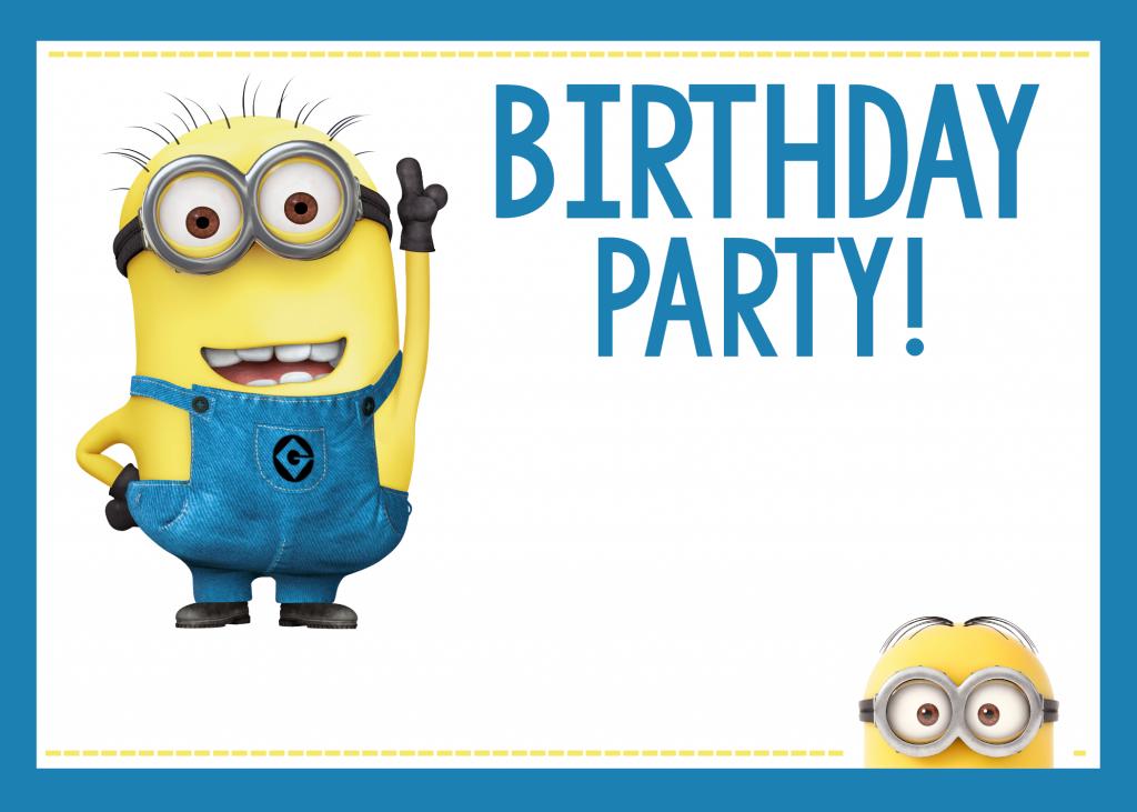 Printable Minion Party Invites
