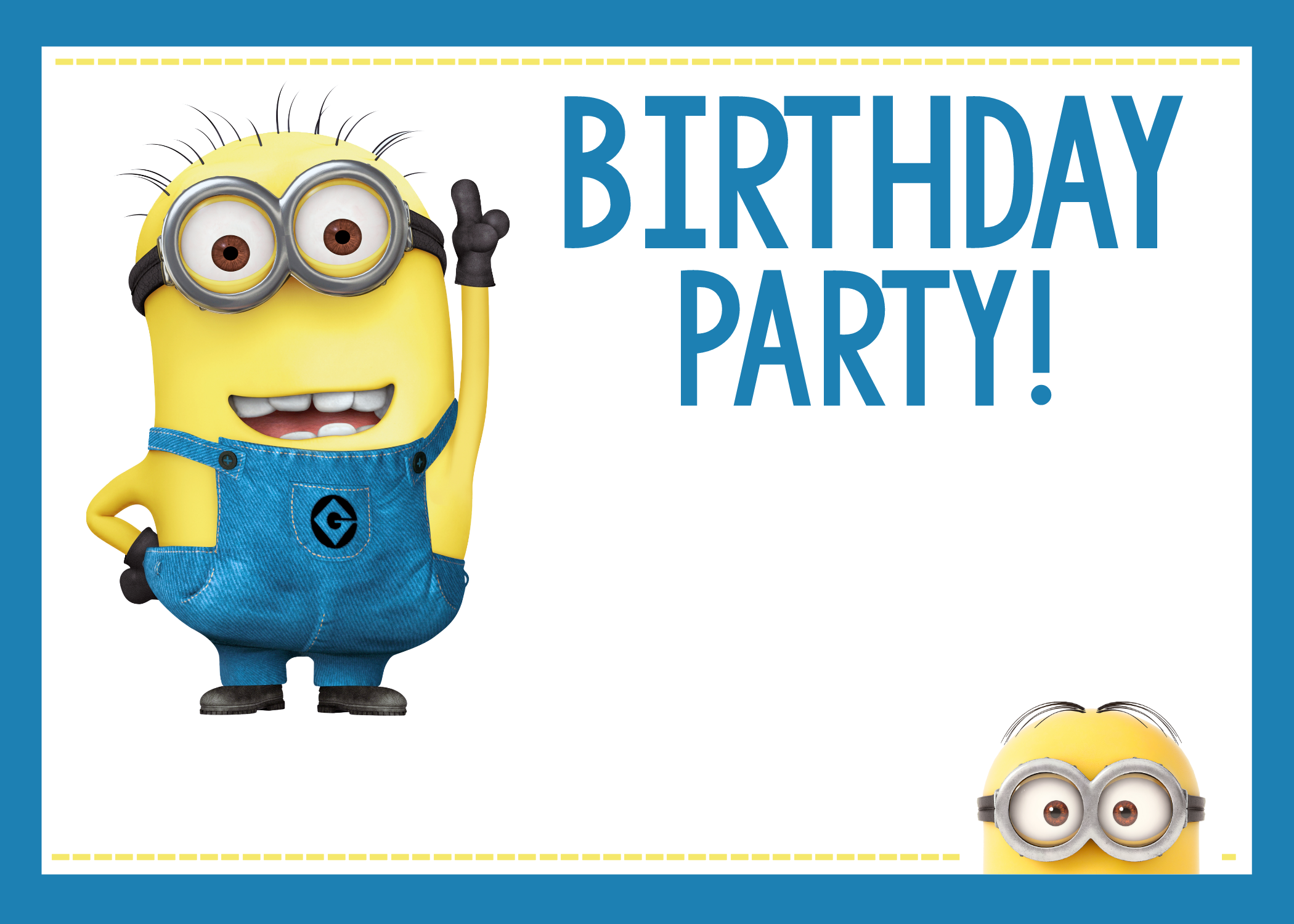 Striking image inside minions invitations printable