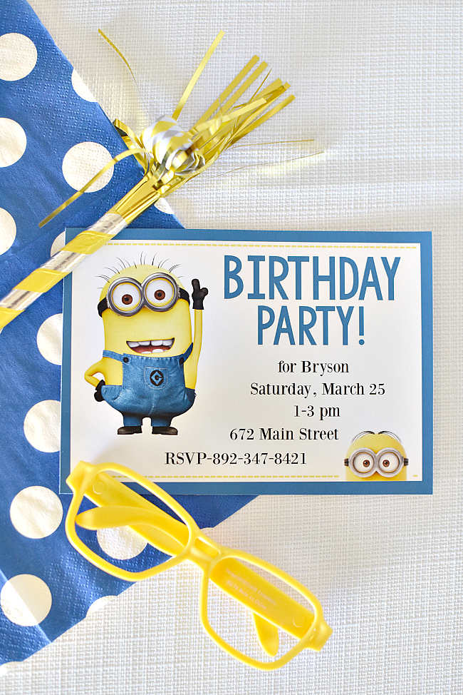 Free Printable Minion Birthday Invitations