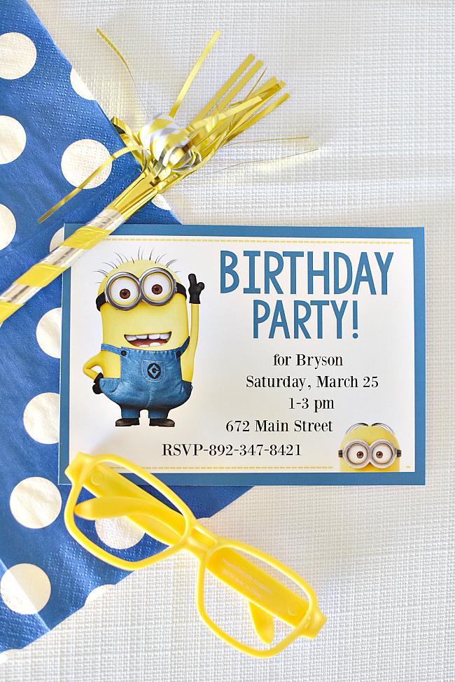 Minion Birthday Party Fun Squared
