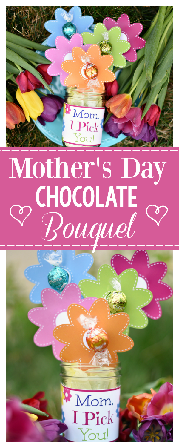 Mother's Day Chocolate Bouquet-A Fun Mother's Day Gift Idea