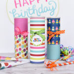 Gift Wrapping With Pringle Cans