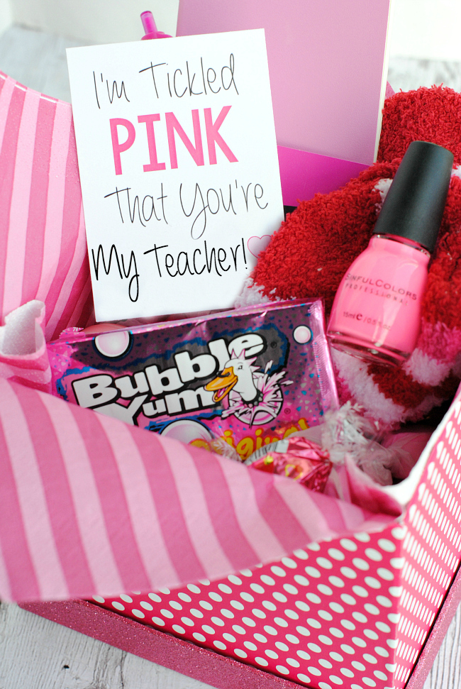 Tickled Pink Teacher Gift