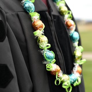 Chocolate DIY Graduation Lei