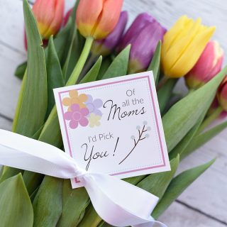 Mother's Day Flowers Gift Tags